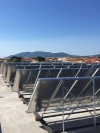 Tοποθέτηση ηλιακών συλλεκτών